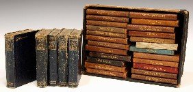 15: (29) MINIATURE LEATHER BOUND SHAKESPEARE BOOKS