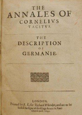 BOOK:THE ANNALES OF CORNELIUS TACTIUS, LONDON 1640