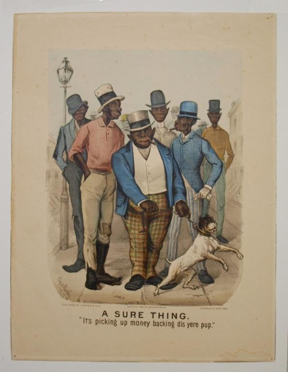"""157: (2) CURRIER & IVES, """"ALL BROKE UP-SURE THING"""", #77 - 2"""