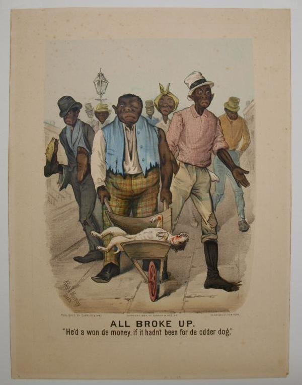 """157: (2) CURRIER & IVES, """"ALL BROKE UP-SURE THING"""", #77 - 4"""