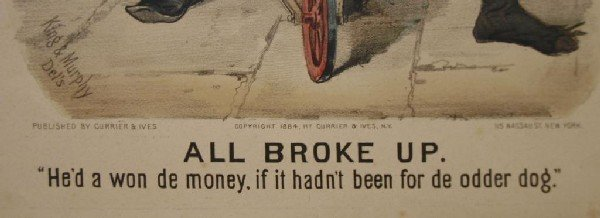"""157: (2) CURRIER & IVES, """"ALL BROKE UP-SURE THING"""", #77 - 5"""