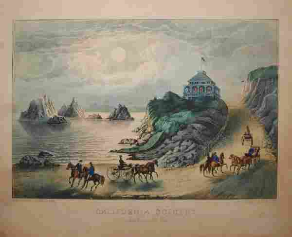 CURRIR & IVES PRINT, CALIFORNIA SCENERY, SEAL #768