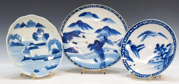 500: CHINESE BLUE & WHITE PORCELAIN CHARGERS
