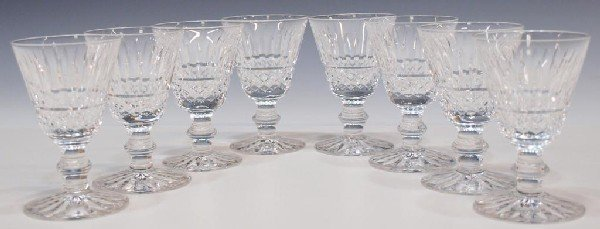 3: WATERFORD CUT CRYSTAL 'TRAMORE' CORDIAL GLASSES