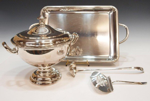 22: FRENCH & GERMAN SILVER PLATE SERVICE ARTICLES