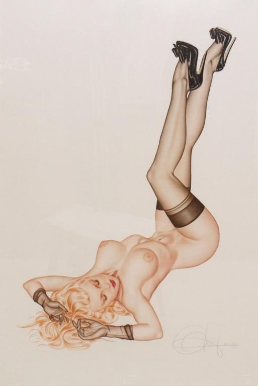 276: FRAMED LITHOGRAPH, NUDE, PLAYBOY EDITION, OLIVIA