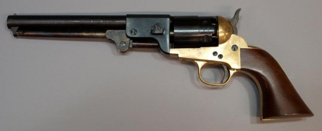 18: NAVY ARMS BLACK POWDER REVOLVER, REPLICA