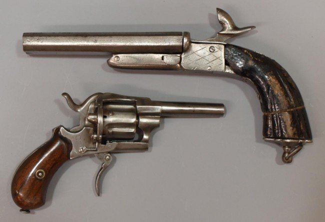 20: (2) ANTIQUE PINFIRE FIREARMS, CONTINENTAL