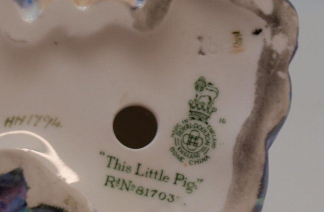 99: SCARCE ROYAL DOULTON BLUE 'LITTLE PIG' HN 1794 - 4