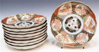 423: (9) JAPANESE IMARI PORCELAIN PLATES