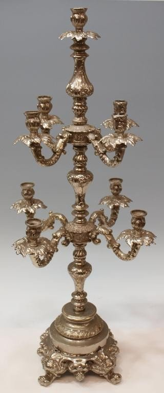 3: LOUIS XV STYLE EIGHT PLACE CANDLELABRA