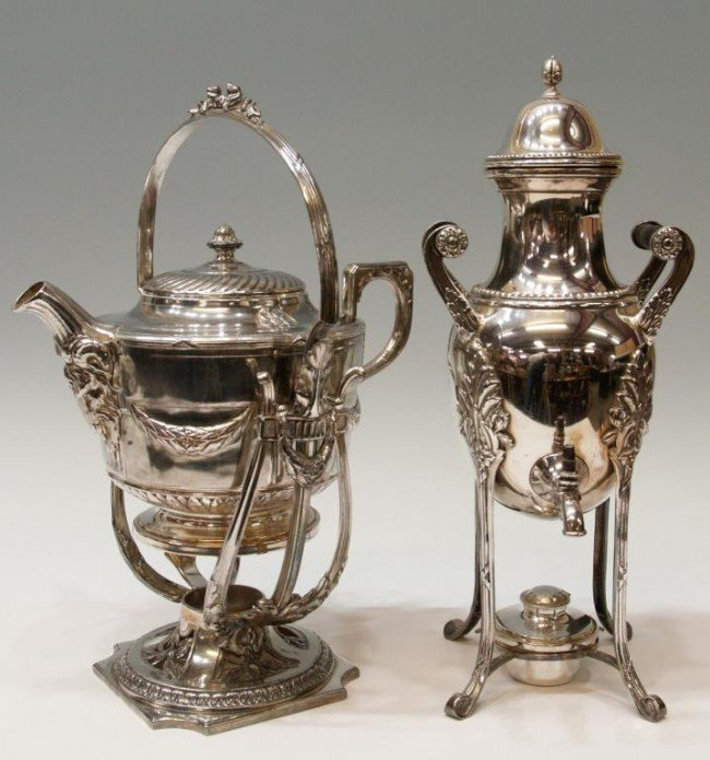 10: FRENCH SILVER PLATE KETTLES, ORFEVRERIE GALLIA
