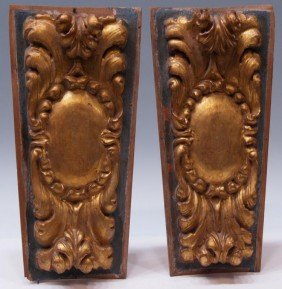 18TH C. SPAIN CARVED GILT ARCHITECTURAL PANELS