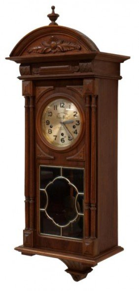 LONDON CLOCK COMPANY CHIMING WALNUT WALL CLOCK