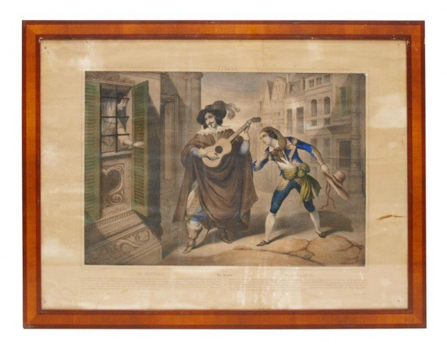 361: (4) 19TH C. LITHOGRAPHS, BARBER OF SEVILLE SCENES - 3