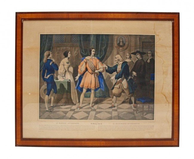 361: (4) 19TH C. LITHOGRAPHS, BARBER OF SEVILLE SCENES - 7