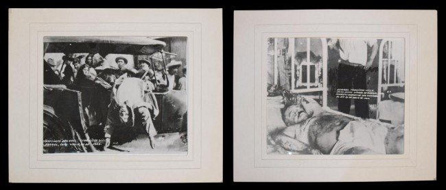 21: (2) DEATH PHOTOS OF ASSASSINATED PANCHO VILLA