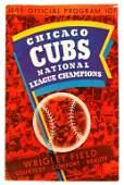 22: CHICAGO CUBS 1946 OFFICIAL PROGRAM, DODGERS