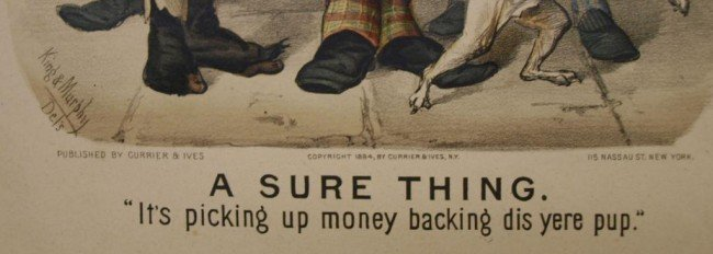 "309: (2) CURRIER & IVES, ""ALL BROKE UP-SURE THING"", #77 - 3"