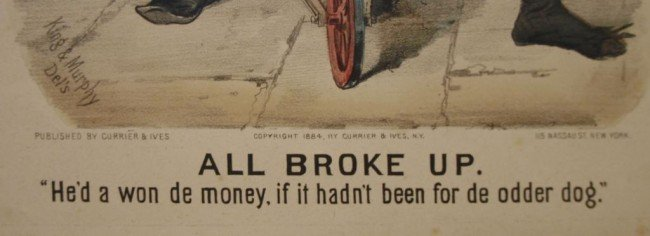 "309: (2) CURRIER & IVES, ""ALL BROKE UP-SURE THING"", #77 - 5"