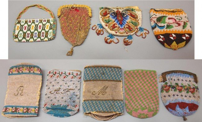 336: 19TH C. CONTINENTAL BEADED PURSE COLLECTION