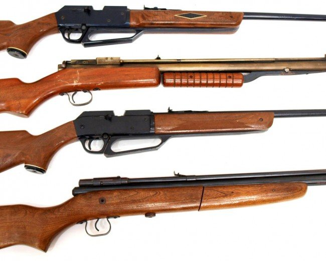 12: (4) BB RIFLES, TWO DAISY, ONE BENJAMIN, ONE CROSMA