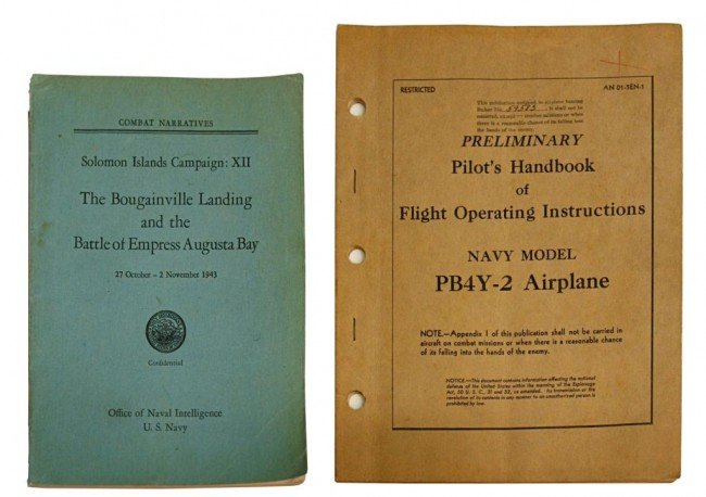 20: (2) SCARCE WWII AIRPLANE HANDBOOK, NAVY COMBAT