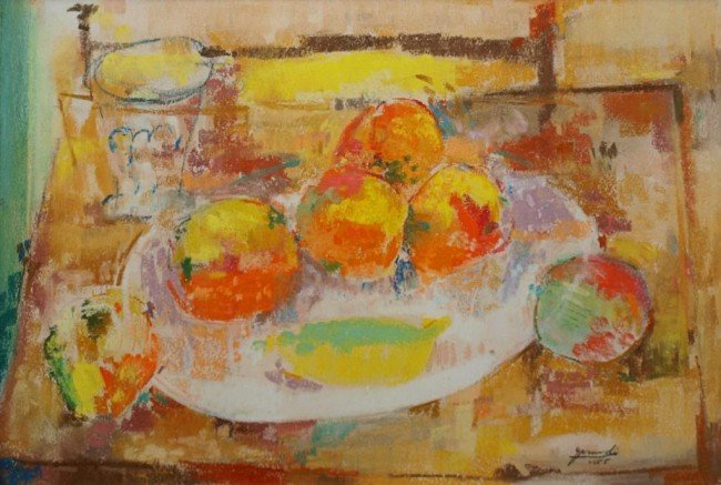 21: MIXED MEDIA, ABSTRACT STILL LIFE, MARIO GRANDI