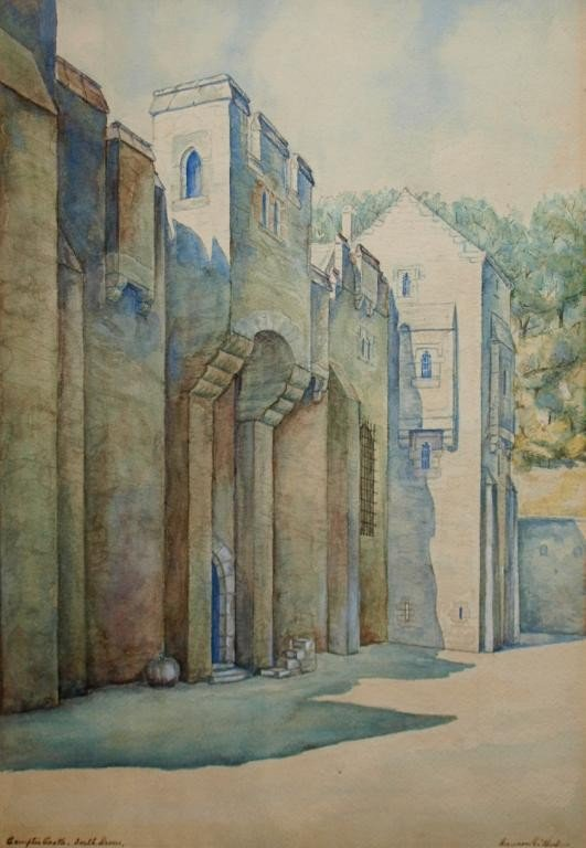 "23: WATERCOLOR, ""COMPTON CASTLE, MANSON GILBERT"