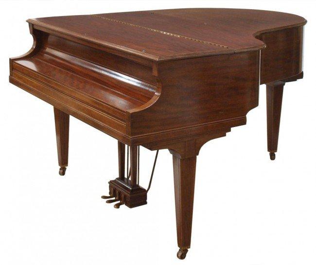 136: KIMBALL MAHOGANY CASED BABY GRAND PIANO & BENCH - 2