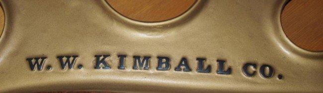 136: KIMBALL MAHOGANY CASED BABY GRAND PIANO & BENCH - 4
