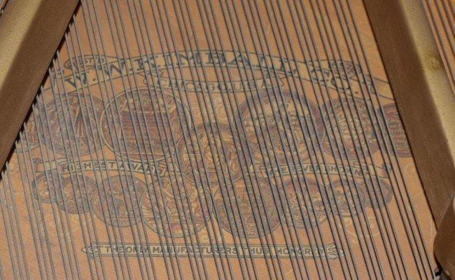 136: KIMBALL MAHOGANY CASED BABY GRAND PIANO & BENCH - 5