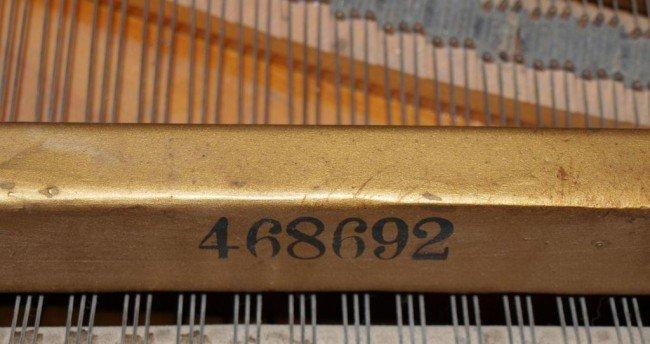 136: KIMBALL MAHOGANY CASED BABY GRAND PIANO & BENCH - 6