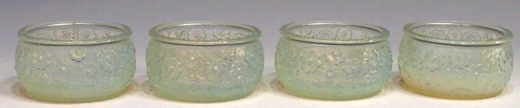 4: (4) SABINO OPALESCENT ART GLASS DRESSER JARS