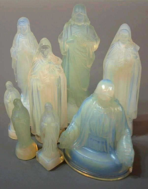 5: COLLECTION OF SABINO ART GLASS RELIGIOUS FIGURES