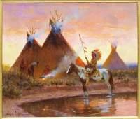 131: AMERICAN INDIAN WESTERN PAINTING, WAYNE COOPER