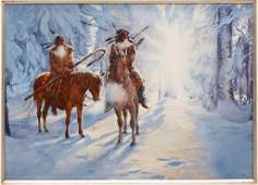 132: AMERICAN INDIAN WESTERN PAINTING, ANTHONY SINCLAIR