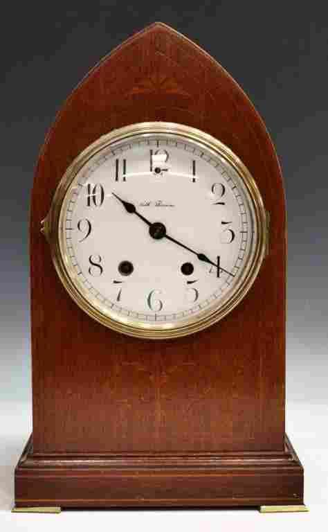 275: SETH THOMAS MAHOGANY BEE HIVE MANTLE CLOCK