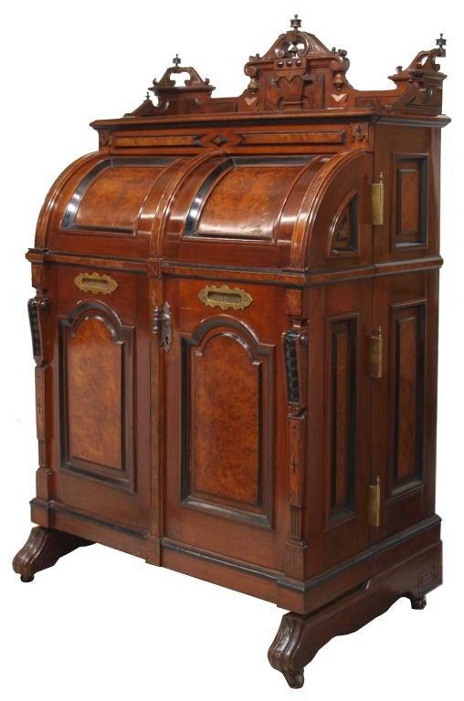 281: WOOTON 1870'S PATENT SECRETARY DESK