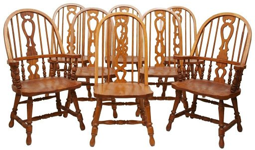358 8 Richardson Brothers Oak Chairs Placeholder See Sold Price