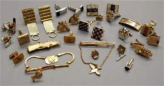 78: GENT'S GOLD & GOLD FILLED & OTHER CUFF LINKS, ETC