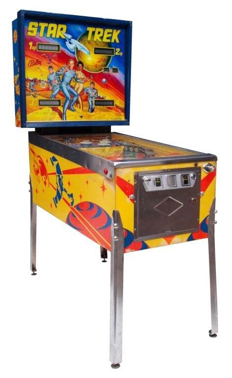 VINTAGE STAR TREK PINBALL MACHINE 1978 BALLY MFG