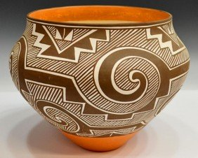 SOUTHWEST AMERICAN INDIAN POT, LORETTA JOE, ACOMA