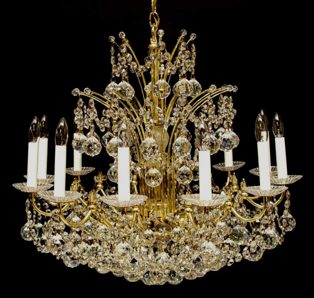 239: SCHONBEK SWAROVSKI CRYSTAL 24-LIGHT CHANDELIER