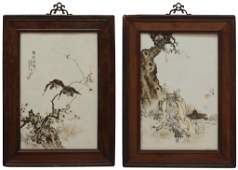 365: (2) CHINESE PORCELAIN PAINTED PLAQUES