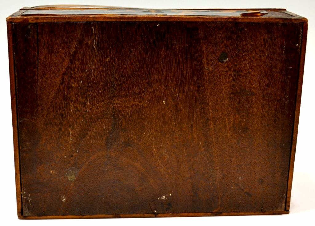 54: 19TH C. ENGLISH TORTOISE SHELL WORK BOX - 7