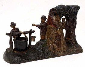 CHARLES BAILEY MECHANICAL IRON BOY SCOUT BANK 1912