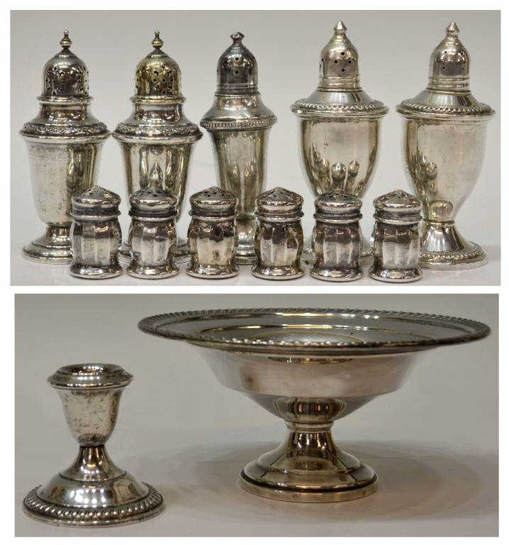 69: COLLECTION OF STERLING SILVER TABLE ARTICLES