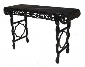 CHINESE CARVED HARDWOOD ALTAR TABLE, QING/REPULIC