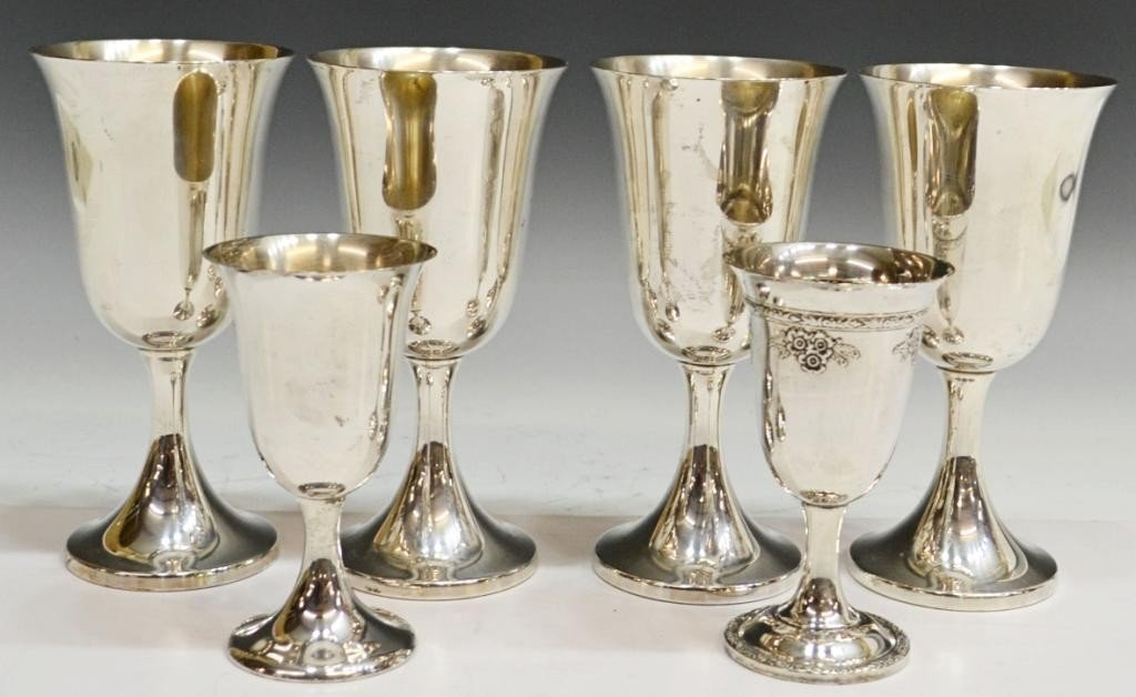 280: COLLECTION OF STERLING SILVER GOBLETS